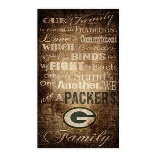 "Green Bay Packers Our Family 11"" x 19"" Canvas Print"