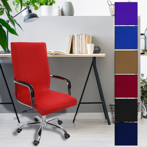 Swivel Computer Chair Cover Removable Office Armchair Seat Cover