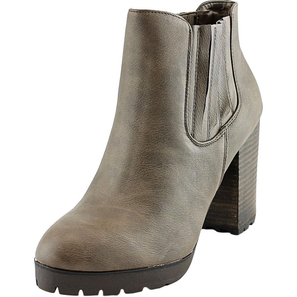 Madden Girl Mazziee Women  Round Toe Synthetic Gray Ankle Boot