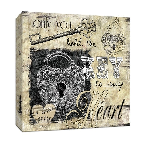 "PTM Images 9-146712 PTM Canvas Collection 12"" x 12"" - ""Lock and Key II"" Giclee Sayings & Quotes Art Print on Canvas"