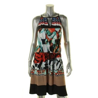 Clover Canyon Womens Casual Dress Printed Keyhole - l