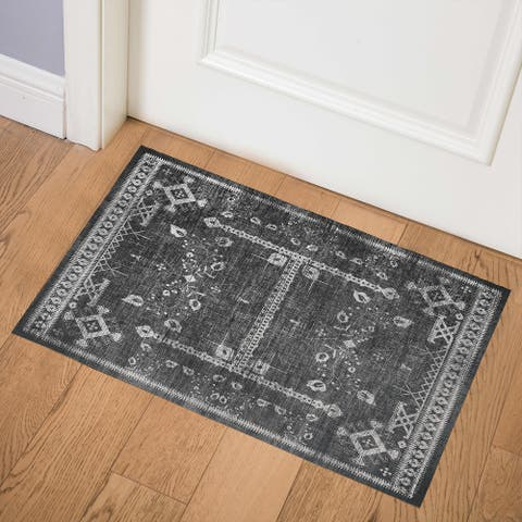 ANNORA CHARCOAL Indoor Floor Mat by Kavka Designs