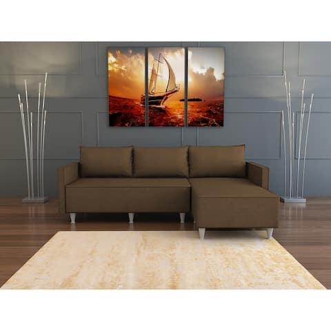 Modern Metal and Foam Sectional Sofa