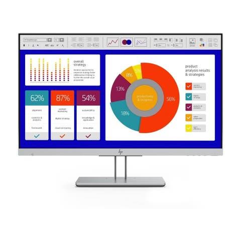 """HP E243p 1080p 23.8"""" IPS Monitor,Silver"""