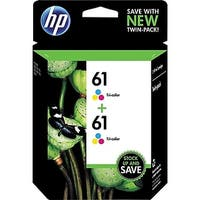 HP 61 Tri-color Original Ink Cartridges, 2 pack CZ074FN