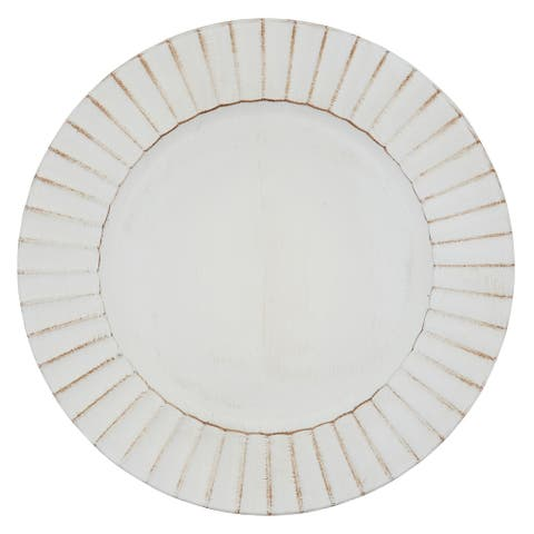 Ruffled Design Charger Plates (Set of 4)