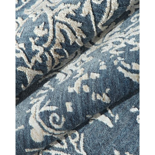 Arielle Transitional Hand Knotted Area Rug Overstock 31601375
