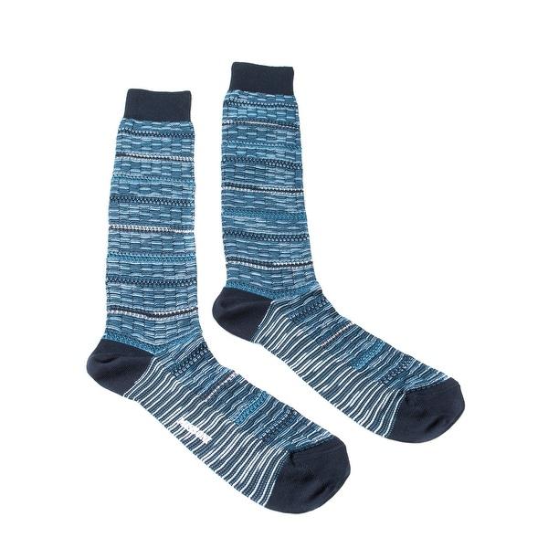 Missoni GM00CMU5245 0003 Turquoise/Navy Knee Length Socks - M
