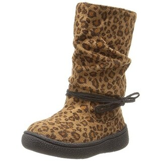 Western Chief Girls Mila Leopard Print Microsuede Mid-Calf Boots