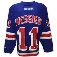 5ea8ec4ee54 Mark Messier Signed New York Rangers Blue Reebok Premier Jersey JSA ITP