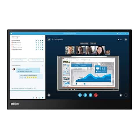 "Lenovo ThinkVision M14 1080p 14"" IPS Monitor,Black(Certified Refurbished)"