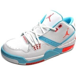 Jordan Flight 23 Youth Round Toe Leather White Basketball Shoe