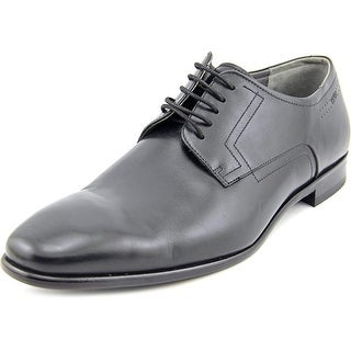 Hugo Boss C-Hudox Men  Cap Toe Leather Black Oxford