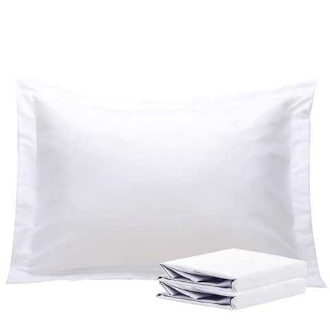 NTBAY Super Soft Luxury Solid Color 100% Microfiber Standard&Queen&King Pillow Shams, Decorative Pillow Covers(Set of 2)