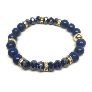"Blue Jade Posh 7"" Bracelet"