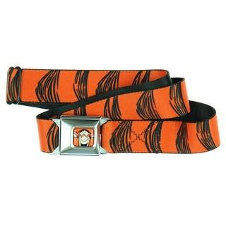 Walt Disney Tigger Stripes Orange Seatbelt Belt-Holds Pants Up