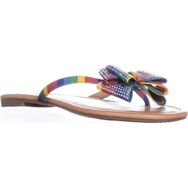I35 Mabae Flat Thong Flip Flop Sandals, Bright Multi