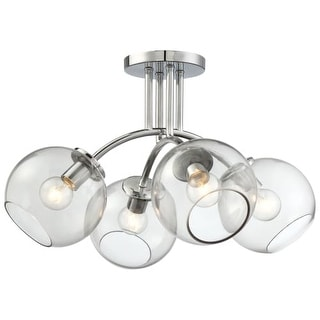 Kovacs P1845-077 4 Light Semi-Flush from the Exposed Collection