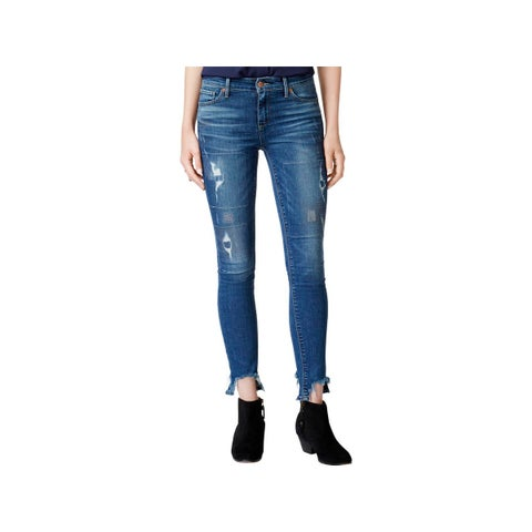 Lucky Brand Womens Ankle Jeans Skinny Ripped