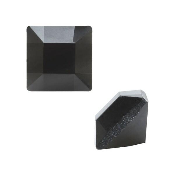 Swarovski Elements Crystal, 4428 Square Fancy Stone 3mm, 10 Pieces, Jet