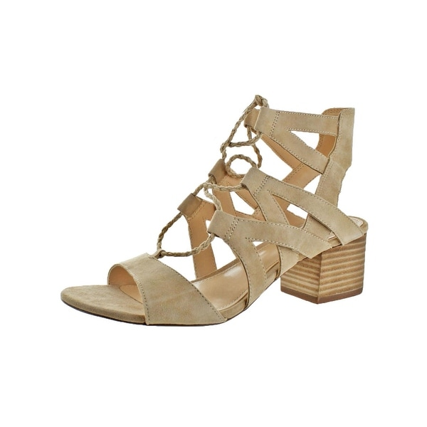 Vince Camuto Womens Fauna Heels Open Toe Ghillie - 8 medium (b,m)