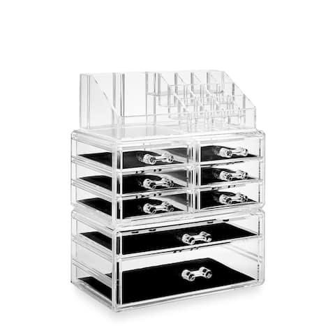 Acrylic Cosmetic Makeup Organizer Jewelry Box Storage Set - 3pc
