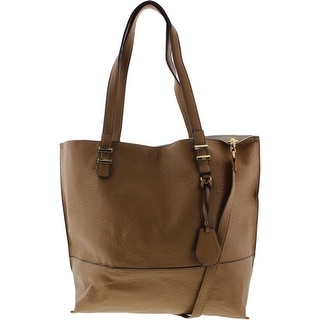 Jessica Simpson Womens Hanne Faux Leather Colorblock Tote Handbag - Large