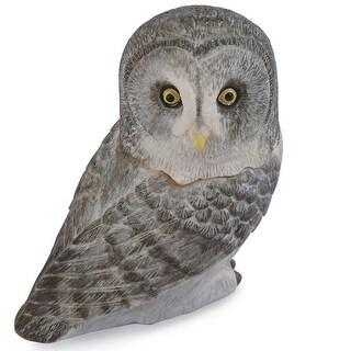 Marble Owl Pot Bellys Trinket Box - Grey Owl - brown