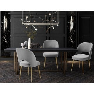 Link to Swell Light Grey Velvet Chair Similar Items in Dining Room & Bar Furniture