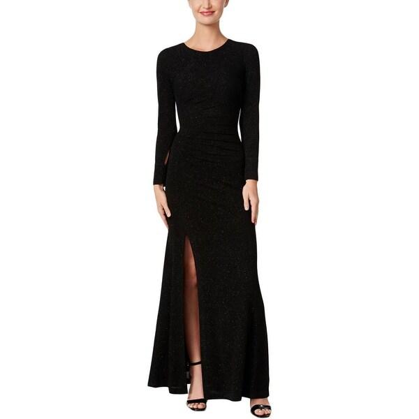 Calvin Klein Womens Evening Dress Glitter Front