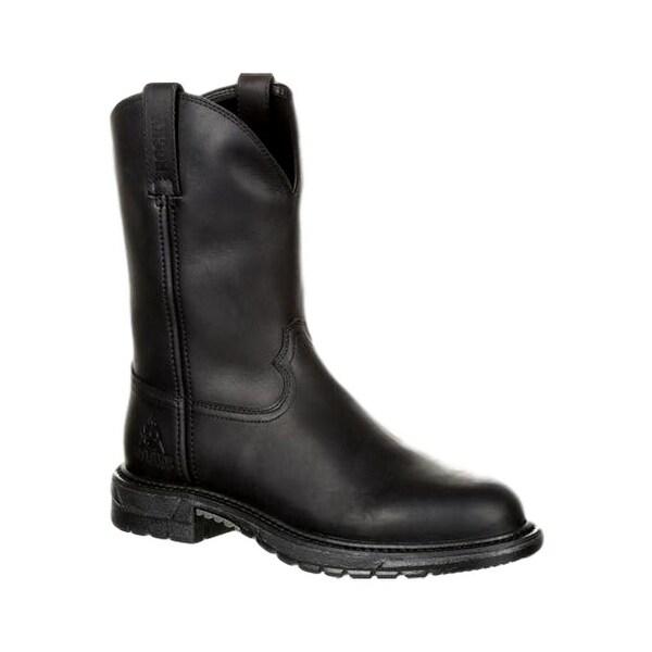 Rocky Western Boots Mens Original Ride Flex Round Black Oil