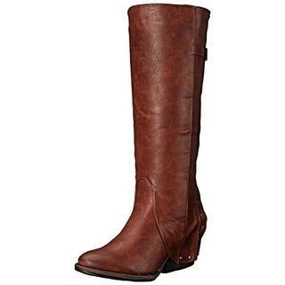 Two Lips Womens Tantrum Faux Leather Covered Mid-Calf Boots