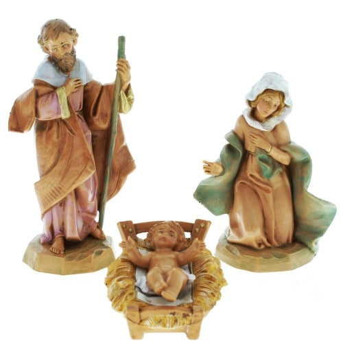 5 inch Holy Family Set Crib Included
