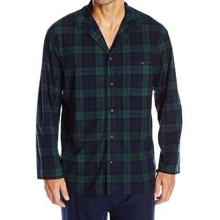 Nautica NEW Green Blue Mens Size XL Plaid Pocket Nightshirt Sleepwear