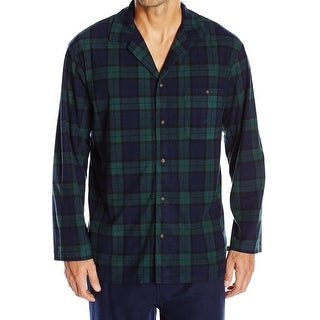 Nautica NEW Green Mens Size XL Plaid Print Pajama Nightshirt Sleepwear
