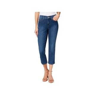 NYDJ Womens Alina Capri Jeans Denim Crop