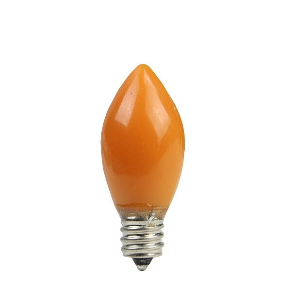 Pack of 4 Opaque Orange LED C7 Christmas Replacement Bulbs