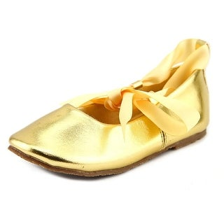 Kid's Dream BS004 Youth Round Toe Synthetic Gold Ballet Flats