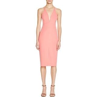 Bardot Womens Clubwear Dress Slit V-Neck