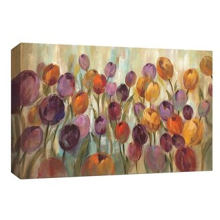 "PTM Images 9-153637  PTM Canvas Collection 8"" x 10"" - ""Rainbow Tulips"" Giclee Flowers Art Print on Canvas"
