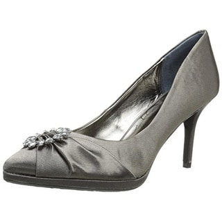 J. Renee Womens Blinda Satin Embellished Pumps