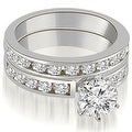 2.80 cttw. 14K White Gold Classic Channel Set Round Cut Diamond Bridal Set - Thumbnail 0