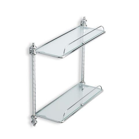 "Nameeks G694 StilHaus 18"" Double Bathroom Shelf - Gold"
