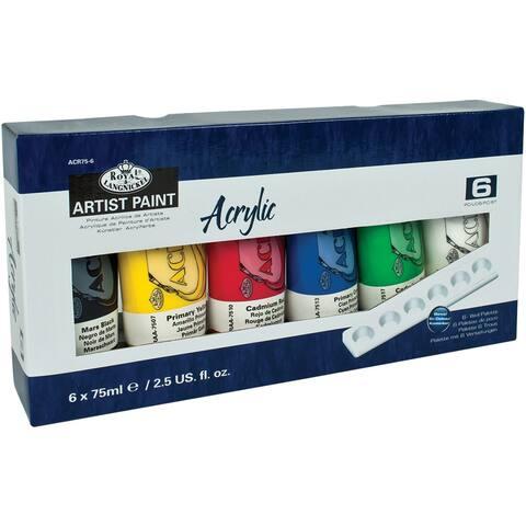 Acrylic Paints 75Ml 6/Pkg-Assorted Colors - Assorted