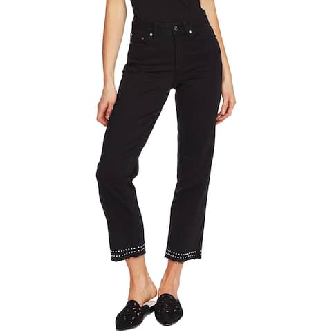 Vince Camuto Womens Cropped Jeans High Rise Denim - Jet Black
