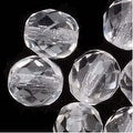 Czech Fire Polished Glass Beads 8mm Round 'Crystal Clear' (25) - Thumbnail 0