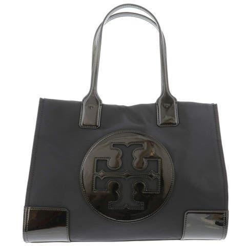Tory Burch Ella Patent Mini Tote Black