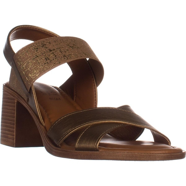 Tuscany Easy Street Perlita Open Toe Block Heel Sandals, Bronze - 8.5 us
