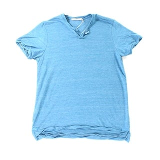 Alternative Apparel NEW Blue Mens Medium M Heather Split-Neck T-Shirt