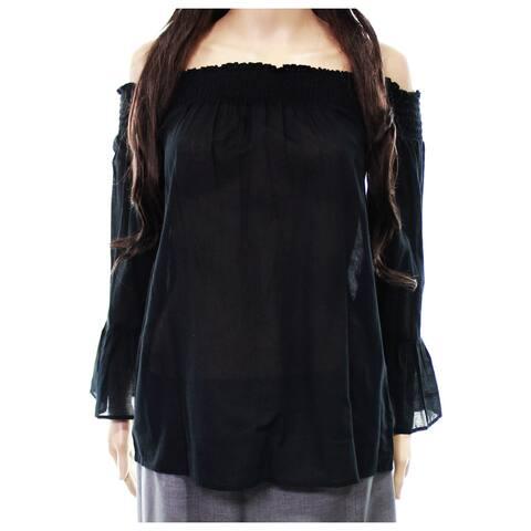 Treasure & Bond Women's Small Off-Shoulder Shirred Blouse